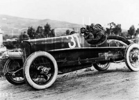 Wild driving an Itala 51 in the Targa Florio race Sicily 1922. Wild did not finish the race. He was