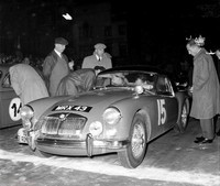Liege Rome Liege 1956 -Milne-Bensted-Smith MGA at the start