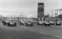 Silverstone - Daily Express 57 - Front Row 6 BRM - Jean Behra, 8 BRM - Ron Flockhart, 2 Maserati - M