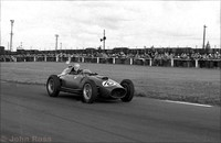 Aintree 59 - Ferrari - Mike Hawthorn smiling for the photographer