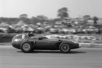 Silverstone 58 -  Tony Brooks - Vanwall