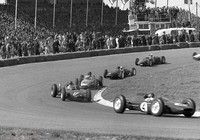 Zandvoort - May 1962 - 17 Graham Hill - BRM, 12 Dan Gurney - Porsche, 4 Jim Clark - Lotus 24