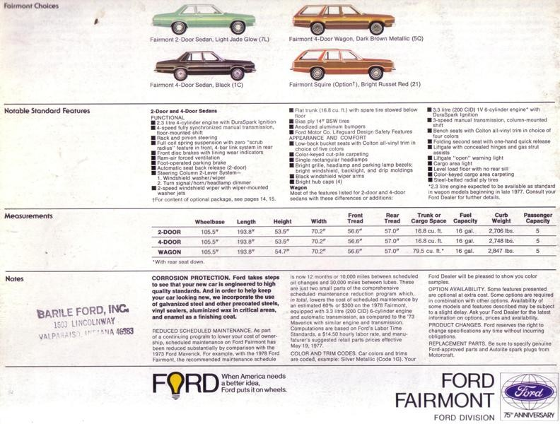 Ford Fairmont 1978 USA 012