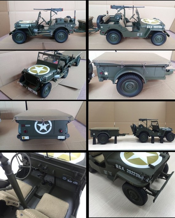 construisez la jeep willys avec sa remorque hachette 1 8 presse mod lisme et mod les r duits. Black Bedroom Furniture Sets. Home Design Ideas