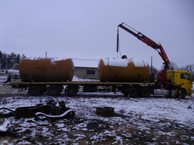 Chargement 2 cuves 25 000 litres