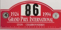 plaque rally 1994 Bugatti cigare Laurent Rondoni