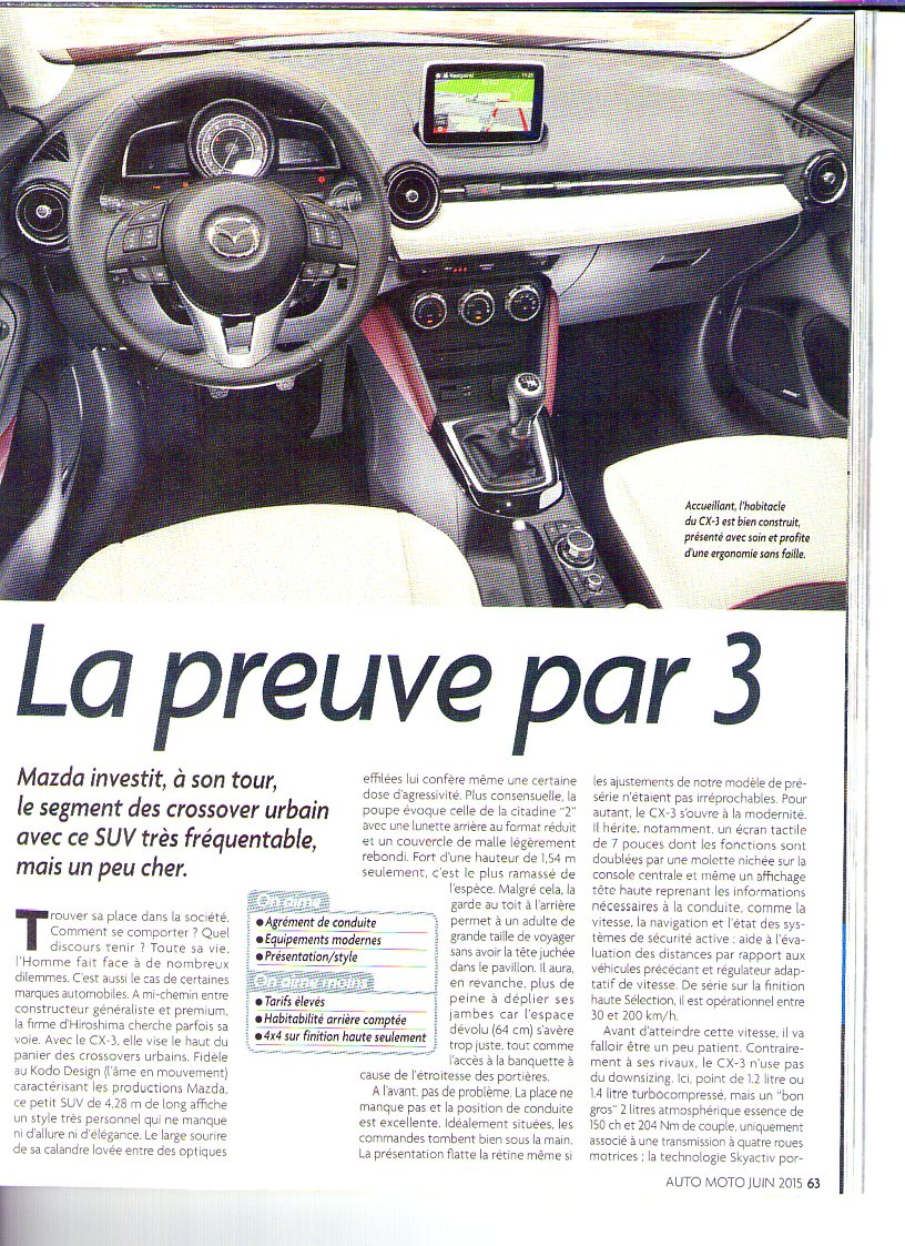 mazda cx-3  2015   topic officiel  - page   13