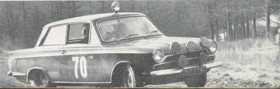 FORD Cortina GT 1965 RAC Chappell Vaux