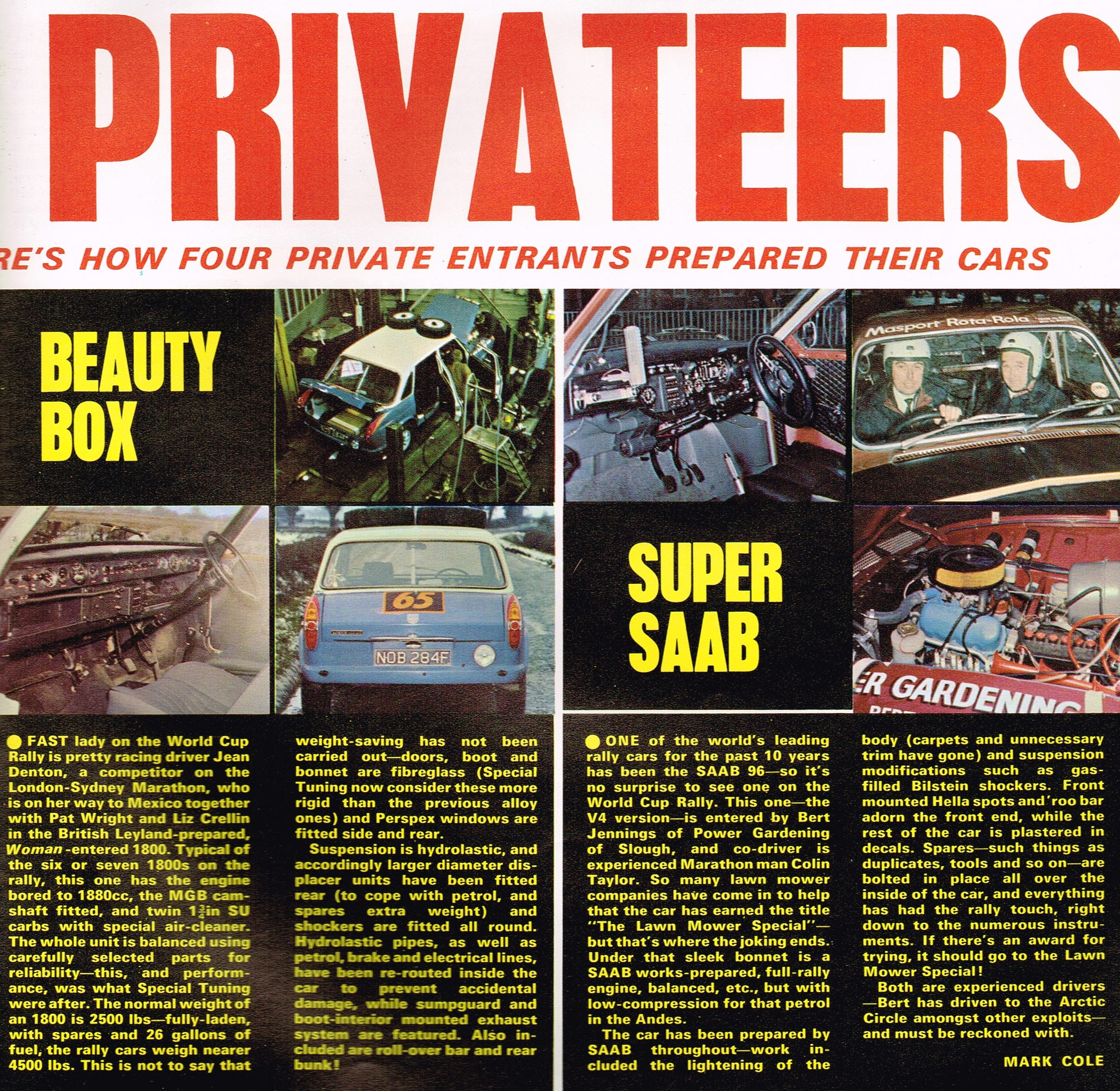WCR Privateers 1970 HOT CAR 06(2)