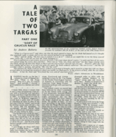 1963 A Tale Of Two Targas page1