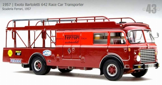 1957 Exoto Bartoletti 642 Race Car Transporter (00012)