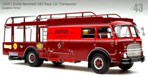 1959 Exoto Bartoletti 682 Race Car Transporter (00034)