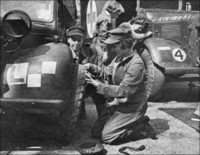 Princess Elizabeth serving as a mechanic in the Women's Auxiliary Territorial Service 1945 UK
