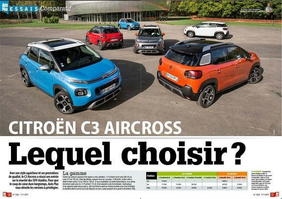 Test C3 Aircross - Auto Plus n°1524 (1)