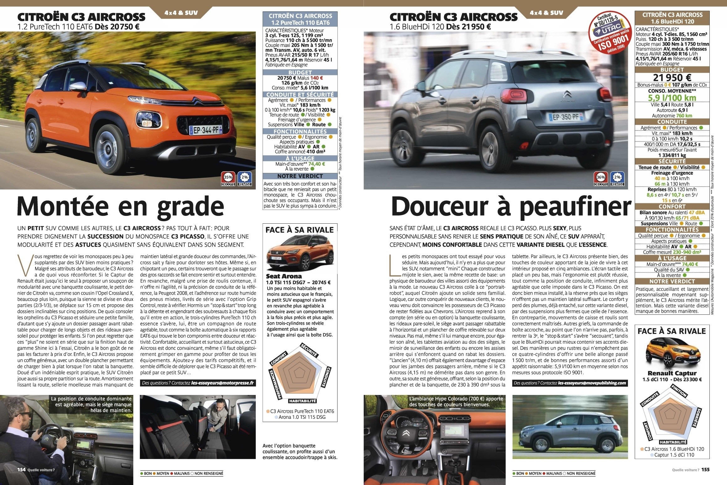 Test C3 Aircross 110 EAT6 HDi 120 - L'automobile magazine HS