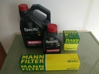 motul specific et mann filters
