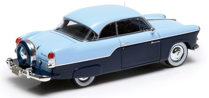Willys Aero Bermuda '55 2-D HT Coupe 2-Tone Blue (with skirts & Continental Kit)