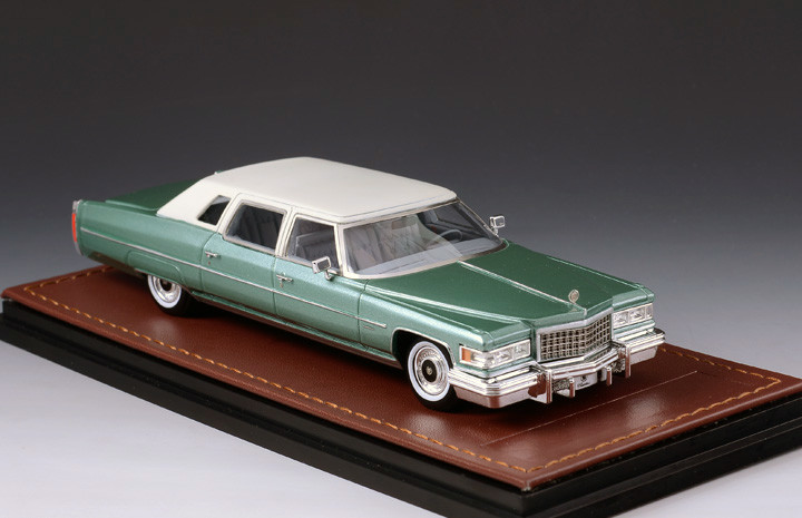 Cadillac Fleetwood '76 Series 75 Light Green & White_GLM123602