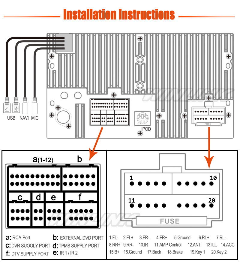 wiring diagram for 6 pin connector 6 pin deutsch connector