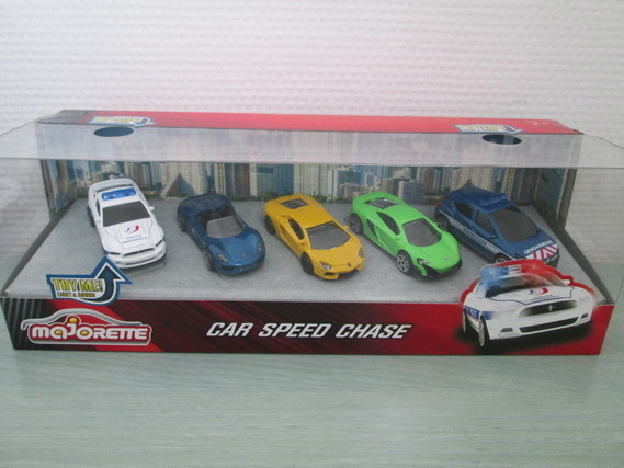 MAJORETTE COFFRET CAR SPEED CHASE + 2 SONIC FLASHERS