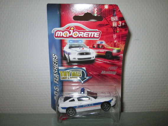 MAJORETTE FORD MUSTANG SOS FLASHERS