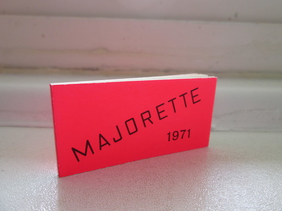 CATALOGUE MAJORETTE 1971