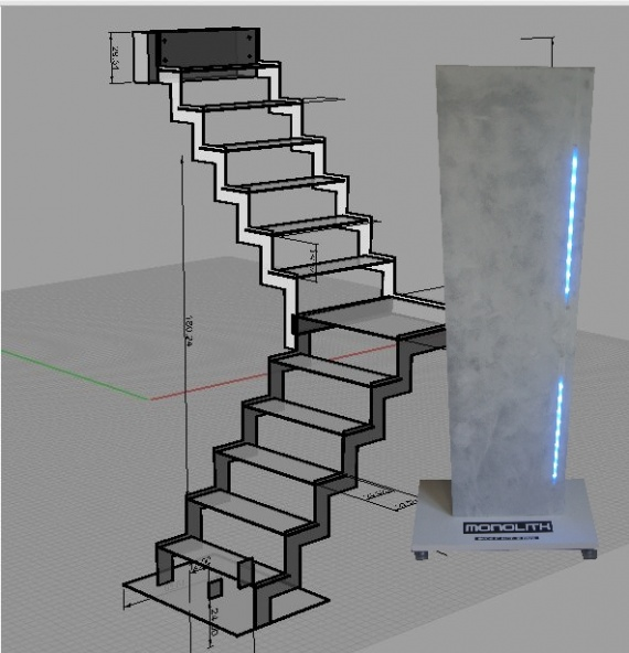 marche led monolith escalier led escalier lumineux marche en beton escalier en beton. Black Bedroom Furniture Sets. Home Design Ideas