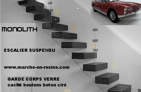 escalier suspendu marche suspendues escalier beton. Black Bedroom Furniture Sets. Home Design Ideas