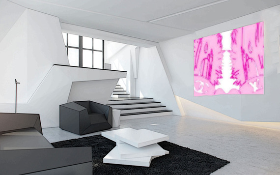 concrete-interior-design-furniture-angular-living-room, livigroom design,Armin van Buuren, Ushuaia,