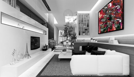 2-Futuristic-French-Living-Room-Design-Iconcrete-interior-design-furniture-angular-living-room, livi