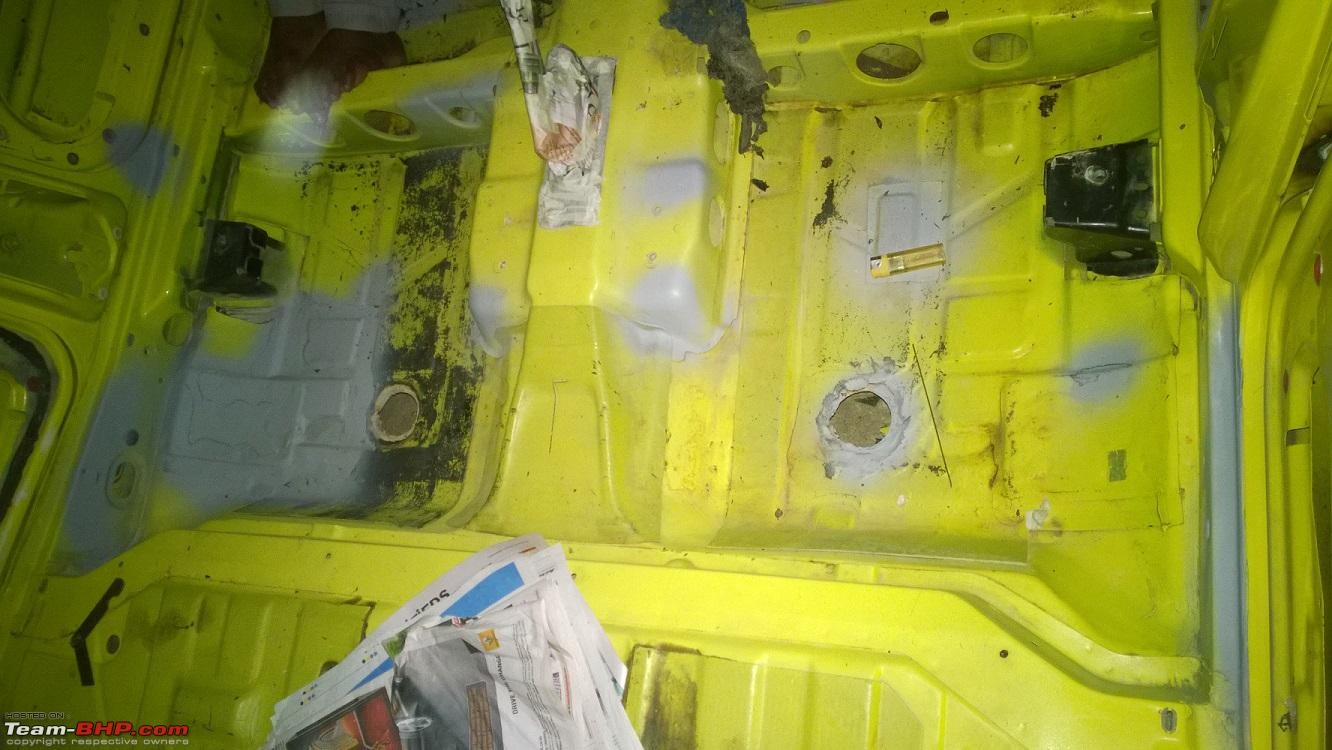 Rust removal rear footwell