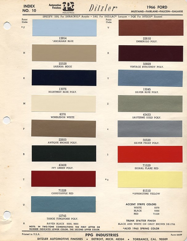 1966mustangcolorcodes