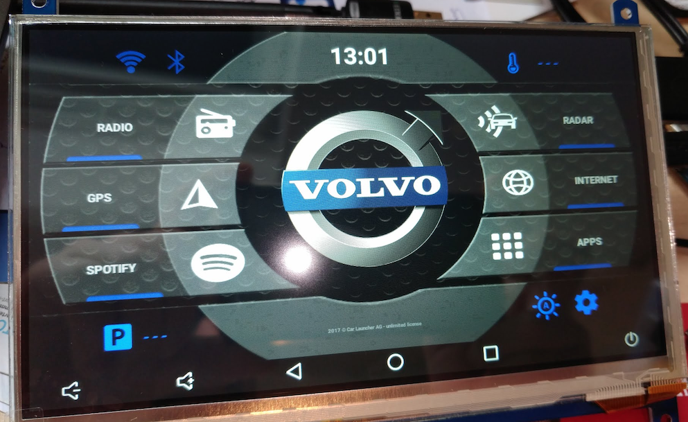 interface volvo android