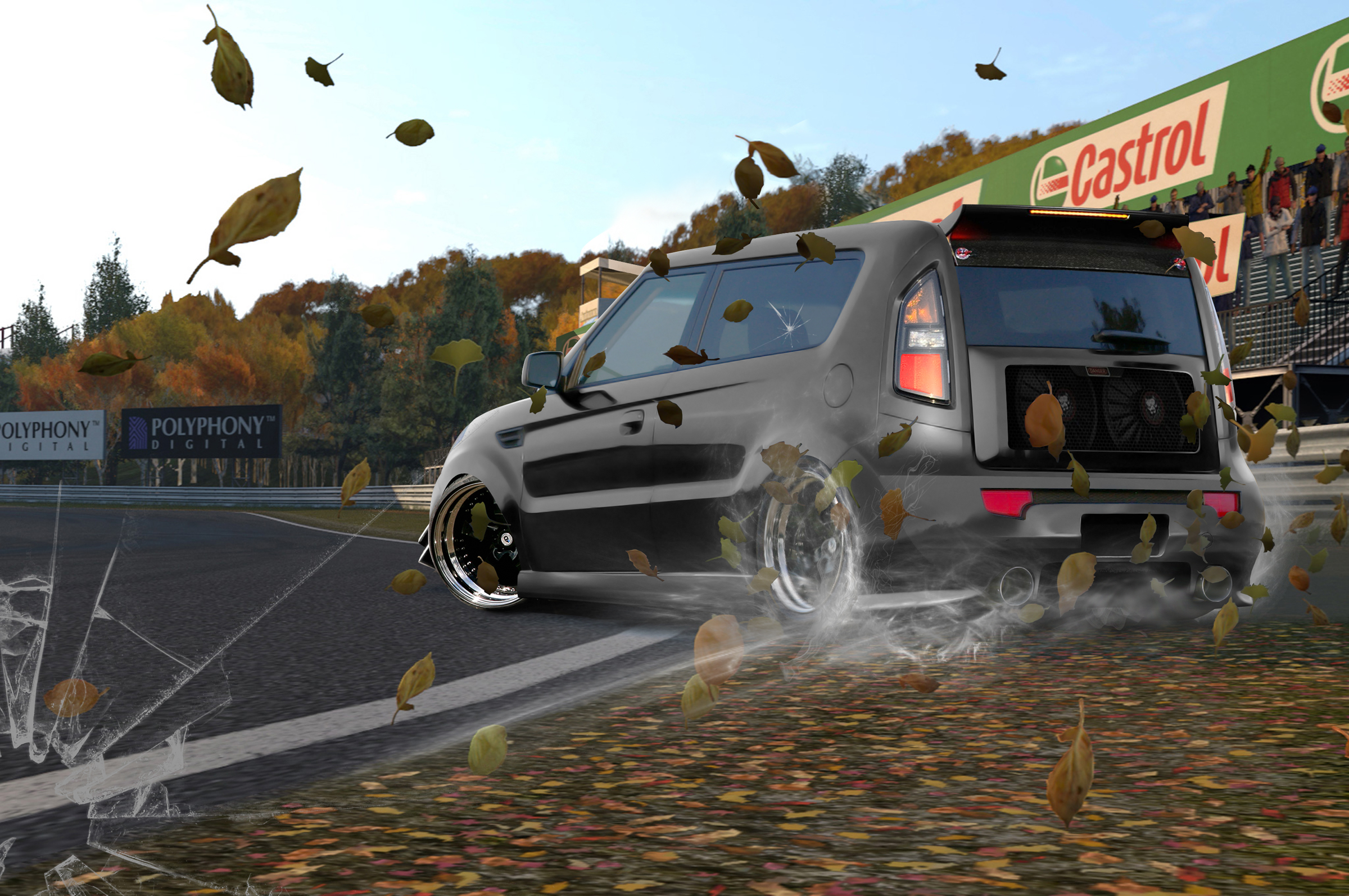 Gran-Turismo-6-Screen-Shot-Nissan-GT-R-race-car-in-leaves