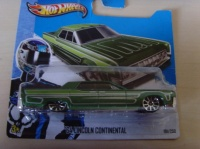 LINCOLN CONTINENTAL HOTWHEELS MINT IN BOX