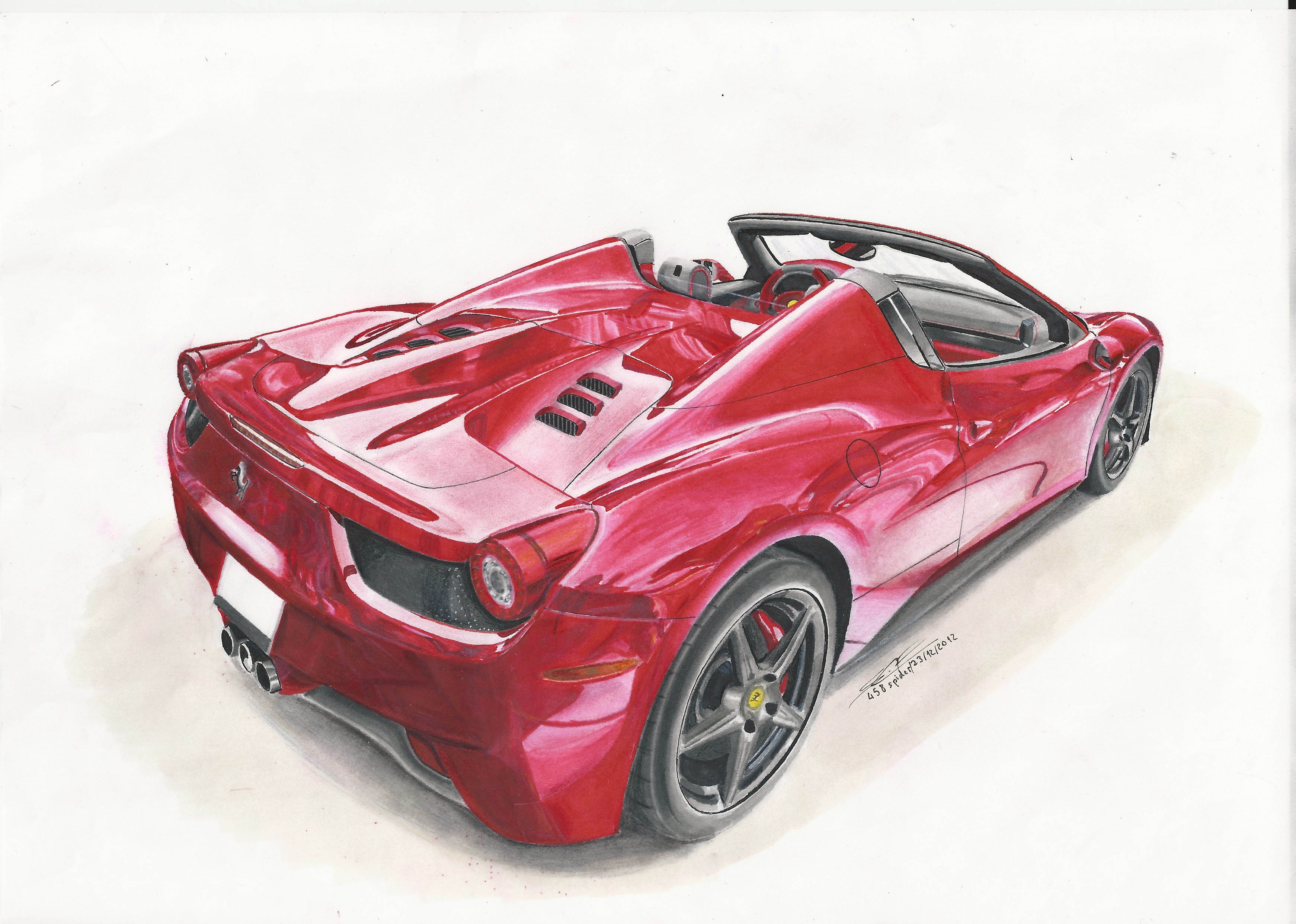 Ferrari 458 spider dessins freecandy photos club - Dessin de ferrari ...