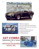 AC Cobra 427 Replica Antique & Collectible Autos 1993