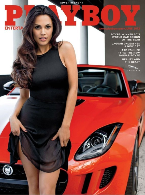 Jaguar F-Type Convertible Raquel Pomplun Playboy 2013