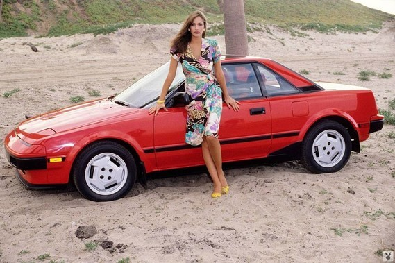 Toyota MR2 Karen Velez Playboy 1985