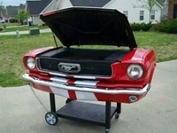 Barbecue Mustang