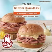 Arby's King's Hawaiian Roast Beef Sandwich