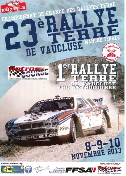 Calendrier cf terre 2013 rallyes r gionaux nationaux - Calendrier coupe de france des rallyes ...