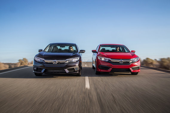 2016-honda-civic-front-end-in-motion