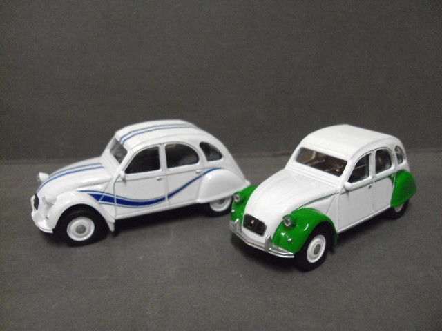 2CV Dolly + 2CV France 3 Norev 3 inches
