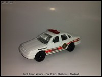 Ford Crown Victoria - Fire Chief - Matchbox - Thailand
