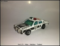 Ford LTD - Police - Matchbox - Thailand