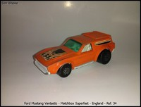 Ford Mustang Vantastic - Matchbox Superfast - England - Ref- 34