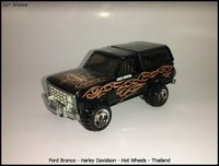 Ford Bronco - Harley Davidson - Hot Wheels - Thailand