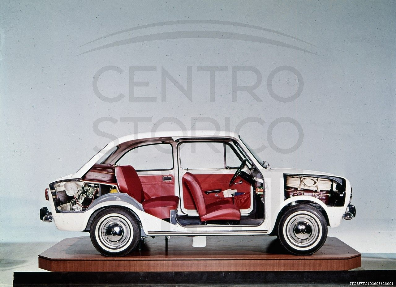 1964- Fiat 850 cross section-