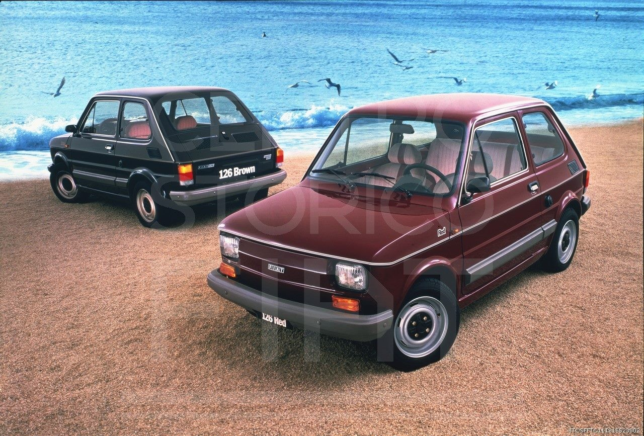 1980- Fiat 126 Red & Brown-